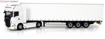 スカニア R730 Krone Profi Liner トレーラー ホワイト