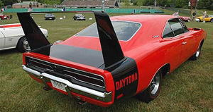 1969 Dodge Charger Daytona Custom - Red with Black Rear Wing