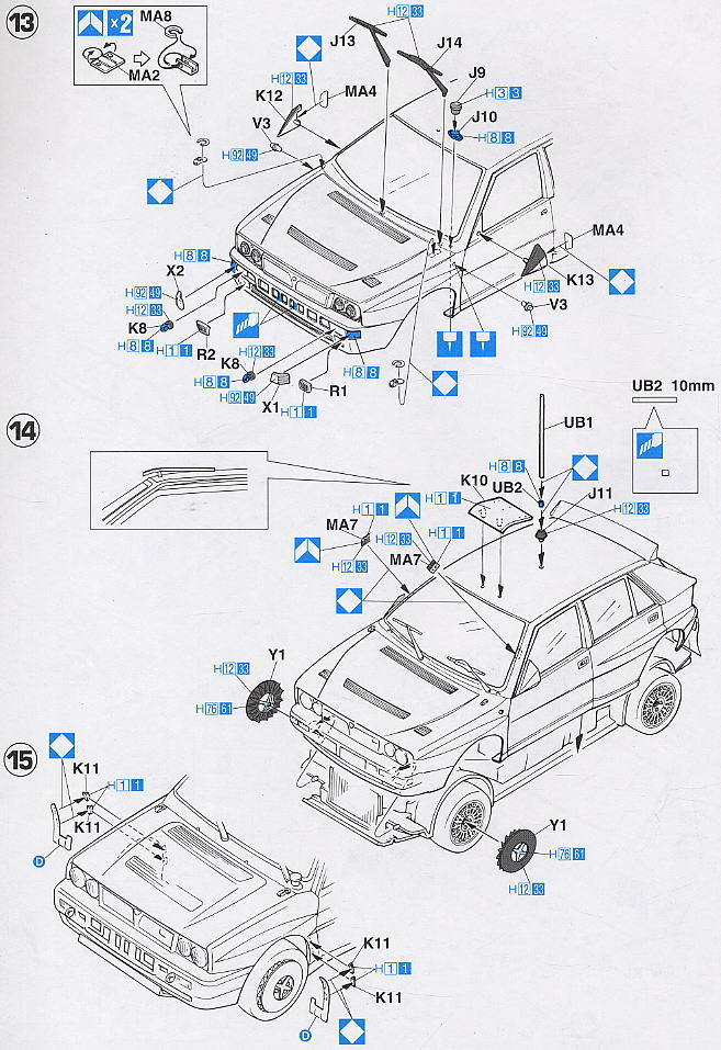 Lancia Super Delta `1992 WRC Makes Champion` (Model Car) Assembly guide5