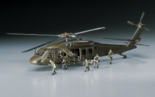 U.S. ARMY MARKINGS UH 60A BLACK HAWK W// 6 CREW FIGURES #433//D3 1//72 HASEGAWA