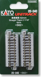 Unitrack Straight Track 62mm (2 7/16``) < S62 > (4pcs.) (Model Train)