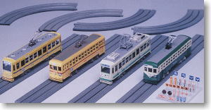 Tram Car and Track for Street (Dummy) (Unassembled Kit) (Model Train)