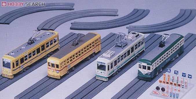Tram Car and Track for Street (Dummy) (Unassembled Kit) (Model Train) Item picture1