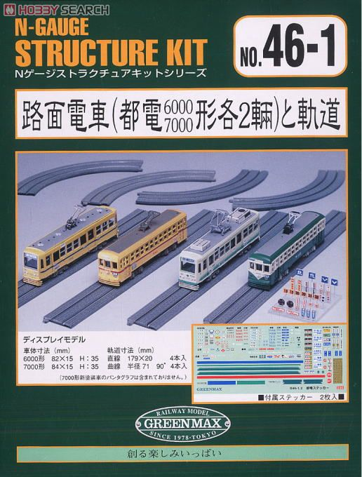 Tram Car and Track for Street (Dummy) (Unassembled Kit) (Model Train) Package1