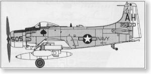 A-1H スカイレイダー w/ロケット弾ポッド (プラモデル)
