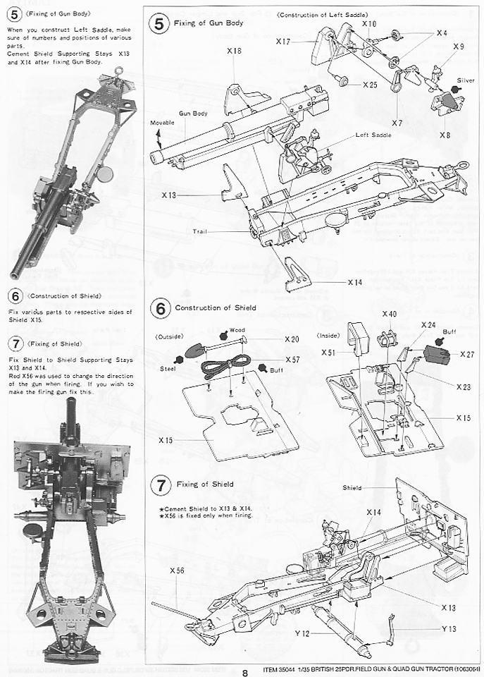 British 25Pdr  Field Gun & Quad Gun Tractor(Canadian Ford