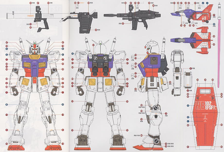 RX-78-2 Gundam Ver.Ka (MG) (Gundam Model Kits) Color2