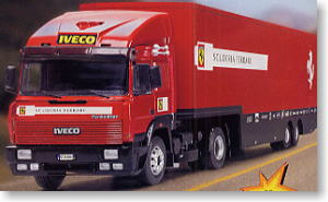 Iveco Truck Trailer Ferrari F1 Transporter Model Car
