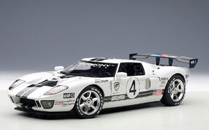 Ford Gt Lm Race Car Spec Ii White Cast Car