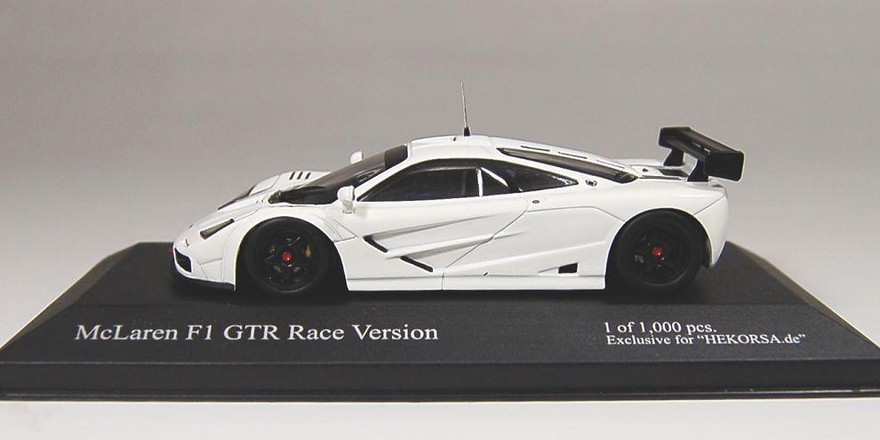 マクラーレン F1 GTR レースバージョン (ホワイト) (ミニカー)