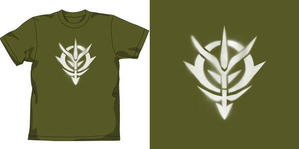... of Zeon Mark Stencil T-Shirt Mos :L (Anime Toy) Item picture1
