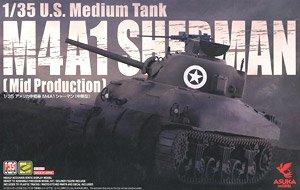 アメリカ中戦車 M4A1 シャーマン (中期型) (プラモデル)
