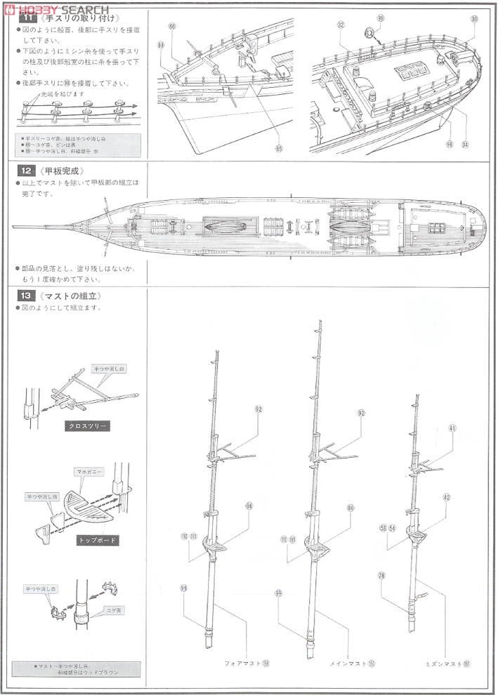 Cutty Sark (Plastic model) Assembly guide5