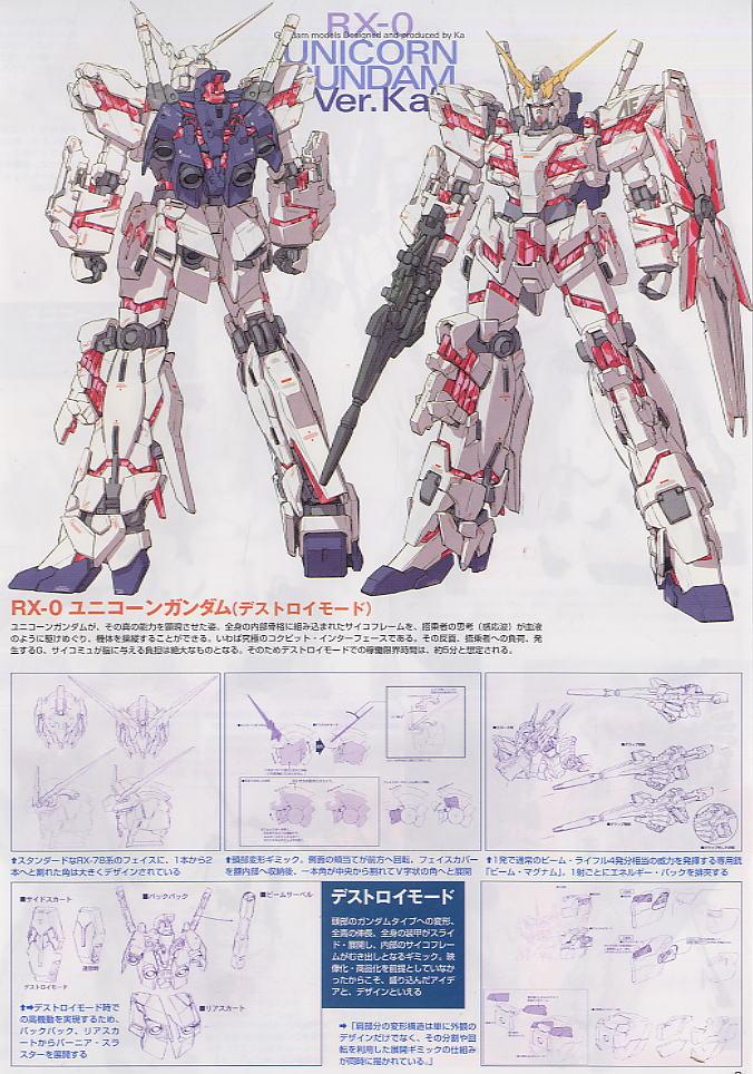 ... ]RX-0 ユニコーンガンダム Ver.Ka (MG) (ガンプラ) 解説1