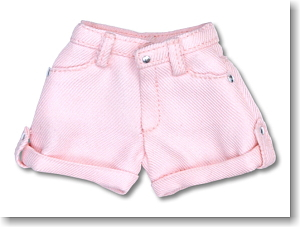 Romantic Girly! Rollup Short Pants (Pink) (Fashion Doll)