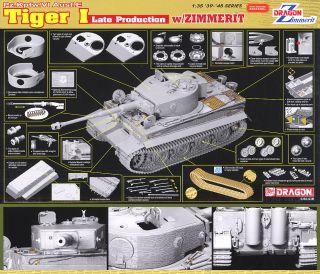 Dragon 1//35 6383 Tiger I Late Production w//Zimmerit Pz.Kpfw.VI Ausf.E kit