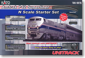 Amtrak P42 Superliner Starter Set (4-Car Set) (Model Train)