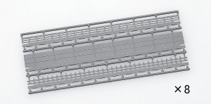 Walls for Wide Tracks C428 inner/C391 Outer (Balustrades, Sidewalls, & Fences * 8each) (Model Train)