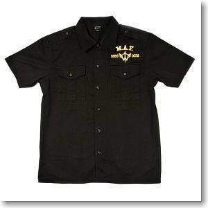 機動戦士ガンダム 突撃機動軍刺繍ワークシャツ BLACK S (キャラクターグッズ)