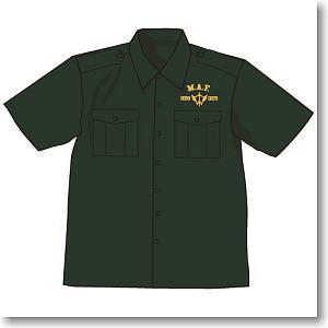 機動戦士ガンダム 突撃機動軍刺繍ワークシャツ MOSS M (キャラクターグッズ)