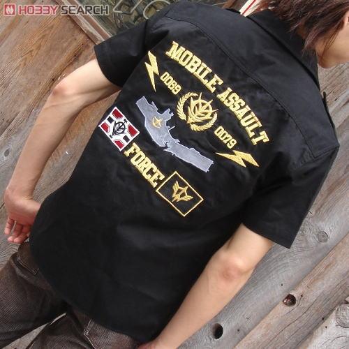 機動戦士ガンダム 突撃機動軍刺繍ワークシャツ MOSS L (キャラクターグッズ)