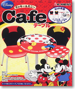 Disney <b>Character</b> Mickey &amp; Minnie Cafe Table (Shokugan)