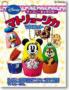 Disney <b>Character</b> Matryoshka Mascot 8 pieces (Shokugan)