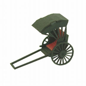 [Miniatuart] Diorama Option Kit : Rickshaw (Unassembled Kit) (Model Train)