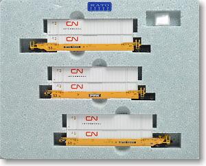 MAXI-IV ダブルスタック 貨車 TTX No.732171 (黄/黒ロゴ/白) ★外国形モデル (鉄道模型)