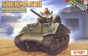 イギリス陸軍 シャーマンIII 中期型 鋳造製ドライバーズフード付 (プラモデル)