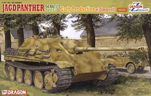 Jagdpanther Sd,Kfz,173 Ausf.G1 Early Production w/Zimmerit (Plastic model)
