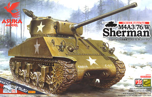 U.S. Medium Tank M4A3(76)W Sherman (Plastic model)