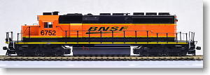 (HO) EMD SD40-2 中期形 BNSF Swoosh Logo No.6752 (オレンジ/黒/黄帯) ★外国形モデル (鉄道模型) 通販 - ホビーサーチ 鉄道模型 HO・Z