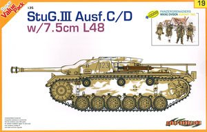 WW.II ドイツ軍III号突撃砲C/D型 w/7.5cm L48(ザウコフ型防盾付) (プラモデル)