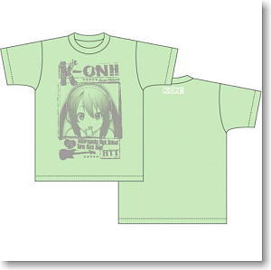 K-On!! Rock T-shirt Azusa Light Green L (Anime Toy)