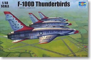 F-100D Super Sabre `Thunderbirds` (Plastic model)