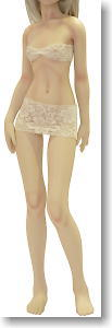 One Third - 55S (BodyColor / Skin White) w/ Finger Wire (Fashion Doll)