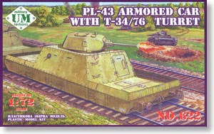 Russian PL-43 Armored car With T-34/76 Turret (Plastic model)
