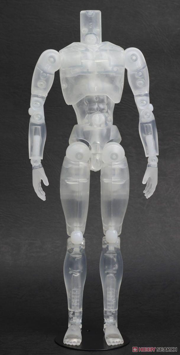 27cm男性リアルボディ マグネット付き (クリア) (ドール)