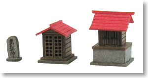 [Miniatuart] Diorama Option Kit : Shrine B (Unassembled Kit) (Model Train)