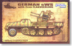 WWII German sWS with 2cm Flakvierking (Plastic model)