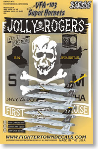 Vfa 103 Jolly Rogers F A 18f Super Hornet Decal Plastic