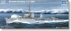 German Navy Z Class Destroyer `Z-25 1944` (Plastic model)