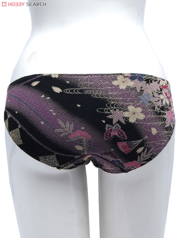 Traditional Japanese pattern Bikini Panty `Crape` (Fan & Flower) (Fashion ...