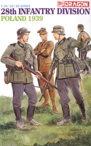 WWII German 28.Infantry-Division, Poland 1939 w/4 Figures (Plastic model)