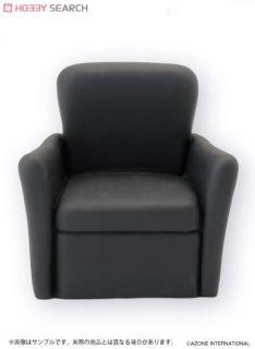 Soft Vinyl Sofa One Person Black