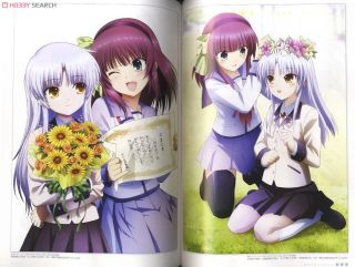 Official Guide Book Angel Beats Paperback 100 Illustration All 14 Episodes