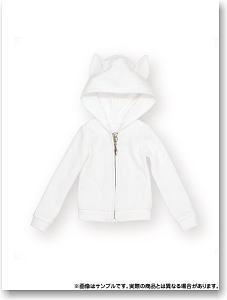50cm Nekomimi Hood Parka (White) (Fashion Doll)