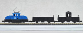 Freight Train of a Country Town (Blue) Chibi-Totsu Set (3-Car Set) (Model Train)