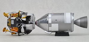 NASA アポロ11号 CSM(司令船/機械船) & 月着陸船 (完成品)